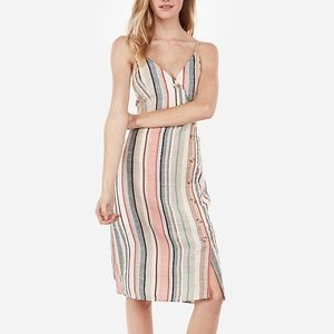 🆕Express multi color stripe dress with buttons